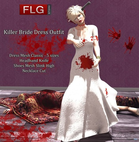 Killer Bride Dress October 2015 Group Gift by FLG Store | Teleport Hub - Second Life Freebies | Second Life Freebies | Scoop.it
