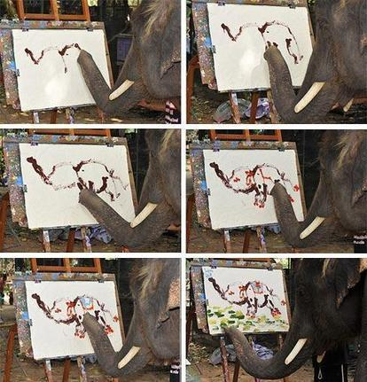 Twitter / Fascinatingpics: Elephant painting an elephant! ... | practice | Scoop.it