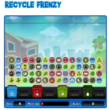 Recycle Frenzy - Games - Visy Enviromaniacs | Resources to teach students technology: Sustainability & Recycling | Scoop.it