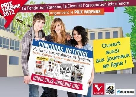 Prix Alexandre Varenne, Concours national de journaux scolaires et lycéens 2012 | Actualité Culturelle | Scoop.it