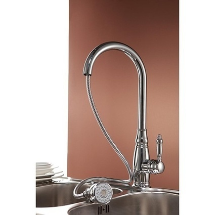 Single Handle Pullout Spray Chrome One Hole Traditional Kitchen Faucet -- Faucetsmall.com | Bathroom Sink Faucets & Kitchen Faucets | Scoop.it