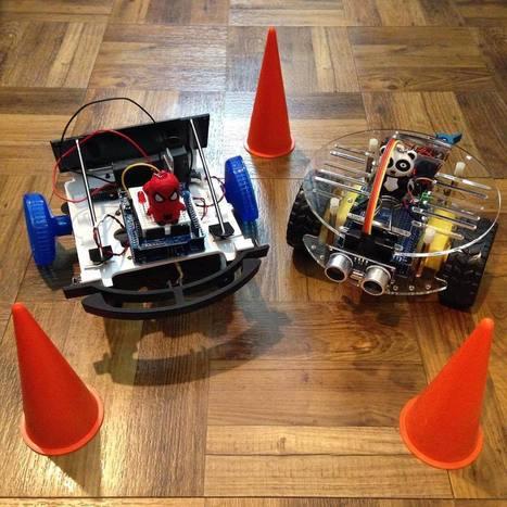 "Allison Di Leonardo on Instagram: ""Meet Fabrizzio and Ivan! Our baby UnoBots #ObstacleAvoidance #Arduino #Autonomous #Robotics ⚙��"" | Raspberry Pi | Scoop.it"