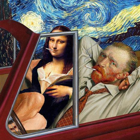 Quand la peinture classique pète les plombs – Les collages décalés de Barry Kite | Clic France | Scoop.it