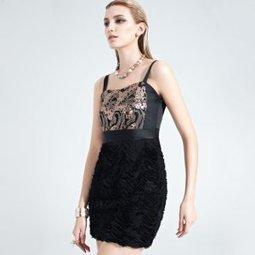 Elegant Sequins Splicing Prom Dress [H021] - $95.30 : | The Latest Fashion Dresses | Scoop.it