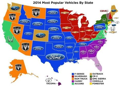 The most popular new vehicle in each state? Not what you might expect | Grab Bag! | Scoop.it