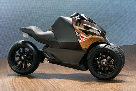 Peugeot Onyx Scooter Concept is half motorcycle, half scooter, all ... | brownlee motorcycles | Scoop.it