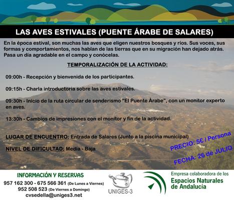 Actividades previstas para el mes de Julio en el Centro de Visitantes Sedella | Cosas de mi Tierra | Scoop.it