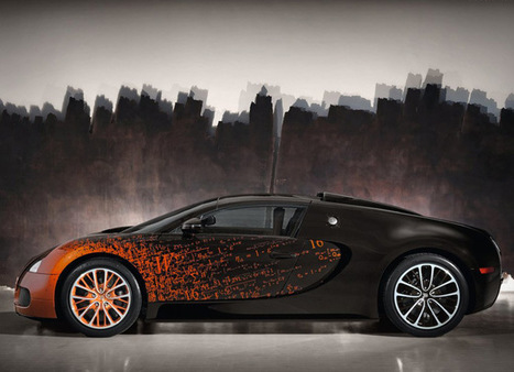 Custom Bugatti Veyron Grand Sport by French Artist Bernar Venet - Top Cars   Damn It's Awesome   Scoop.it