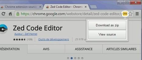 Afficher le code d'une extension Chrome sans l'installer   Time to Learn   Scoop.it