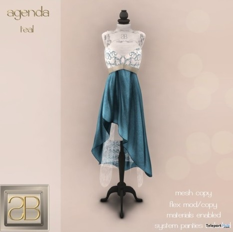 Agenda Teal Dress Group Gift by siss boom | Teleport Hub - Second Life Freebies | Second Life Freebies | Scoop.it