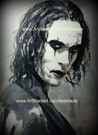 Limited Edition signed dated Brandon Lee The Crow painting print FINE ART D.Day | Art Education | Scoop.it