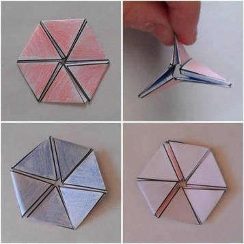 Hexaflexagons: Make Your Own Magical Mathematical Paper Toys | Spoonful | Masada science | Scoop.it