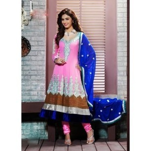 Aava Pink Georgette Anarkali Churidar Kameez with Dupatta-8028 | Buy online Shopping in India Apparel, Watches, Sunglasses | Scoop.it