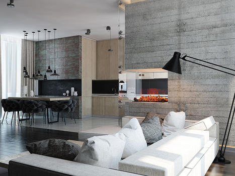 17 Concrete Fireplaces That Stir a Living Room Up! – Adorable Home | Adorable Home - Inspirational Home Design and Decorating Ideas | Scoop.it