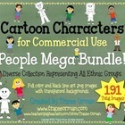 Cartoon Clip Art People Mega Pack for Commercial Use | Teaching | Scoop.it