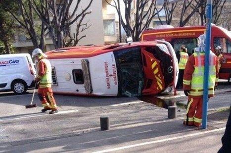 Marseille | Une ambulance des marins-pompiers se renverse - AllôLesPompiers | Les Sapeurs-Pompiers ! | Scoop.it