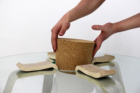 Cork Stopper Table by Hyeonil Jeong » Yanko Design | L'Etablisienne, un atelier pour créer, fabriquer, rénover, personnaliser... | Scoop.it