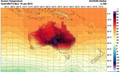 Australia adds new colour to temperature maps as heat soars | Geog-on Golland | Scoop.it