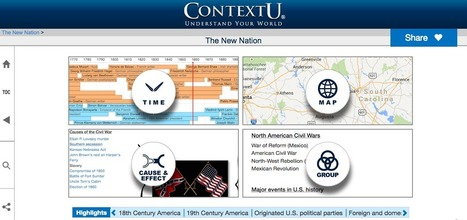 Free Technology for Teachers: ContextU Expands Again - A Digital Textbook on U.S. History | Edtech PK-12 | Scoop.it