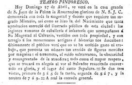 Trasteos hipertextuales: 1823. Dioramas y teatros pintorescos en la Pascua de Resurrección de Sevilla y Cádiz   Publicaciones de Marieta Cantos Casenave   Scoop.it