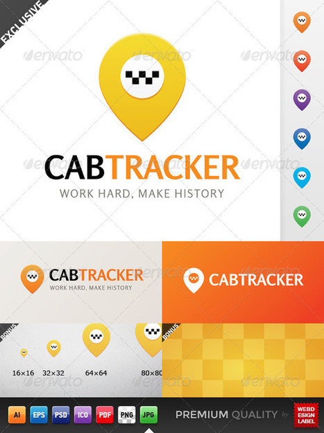 Cab Tracker Logo (Objects) | GFX Database | Graphics Share | Scoop.it