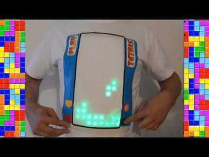 Video: Playing Tetris on a t-shirt | Open Source Hardware News | Scoop.it