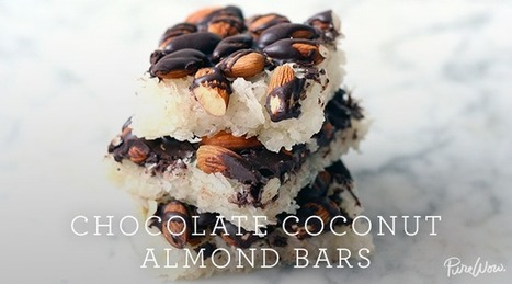 Chocolate Coconut Almond Bars | Best Recipes & Healthy Food | Scoop.it