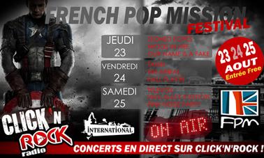WEB : Le festival French Pop Mission en direct sur Click'n'Rock du 23 au 25 août | Radioscope | Scoop.it