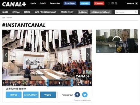 "Social TV : Canal+ déploie la solution ""Moments Share"" de WildMoka sur l'InstantCanal 