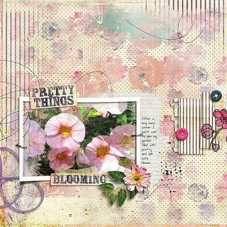 Tutorial | How to Blend Digital Scrapbooking Templates Together | digital scrapbooking | Scoop.it