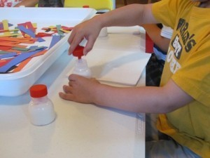 Glue bottles with brushes and paper collages | Teach Preschool | Scoop.it