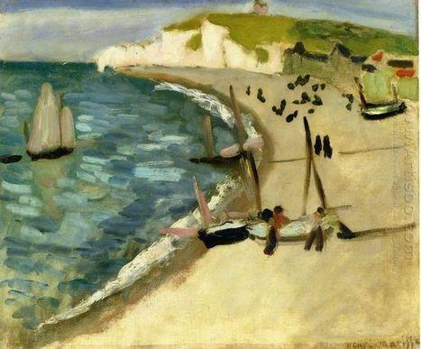 Aht Steunbedrag Rotsen bij Etretat 1920 - Olieverfschilderijen | Landscapes oil paintings | Scoop.it