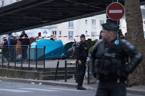 Paris Police Clear Out Migrant Camp and Destroy Tents   Police Problems and Policy   Scoop.it
