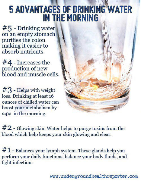 Five Advantages of Drinking Water in the Morning | Health, Fitness and Well-being | Scoop.it