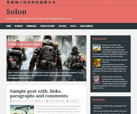 SOLON | Blogger themes | Scoop.it