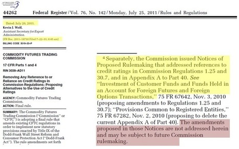 MF Global Circus: A New Senate Hearing & CFTC Divulges Exclusive Emails Re Corzine/Gensler Meetings | ZeroHedge | Gold and What Moves it. | Scoop.it