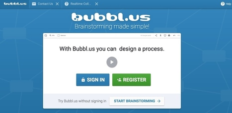 Bubblus. MindMapping et brainstorming - Les Outils Collaboratifs | Conceptual Map | Scoop.it