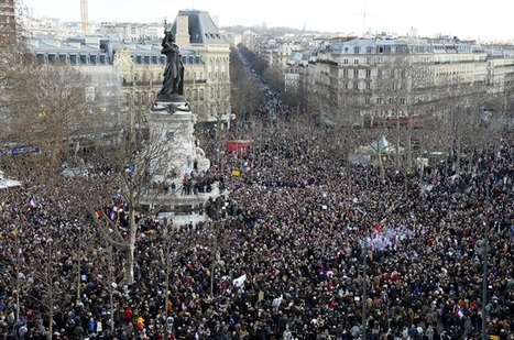 Huge Crowds Gather for Historic Paris March of Defiance and Sorrow   TOP STORIES   Scoop.it