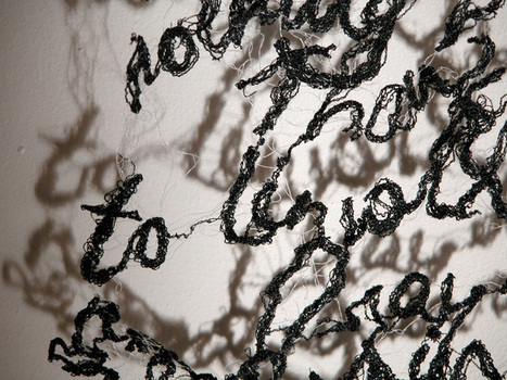 Hunter | Gatherer: Text as Textile | Contemporary Textile Artists | Scoop.it
