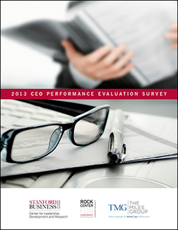 2013 CEO Performance Evaluation Survey | Corporate Governance | Scoop.it