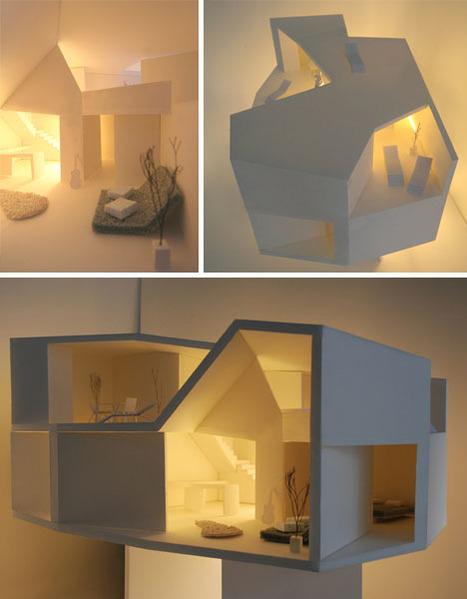 Polygonal Penthouse Tops Trans-Generational Townhouse   Rendons visibles l'architecture et les architectes   Scoop.it