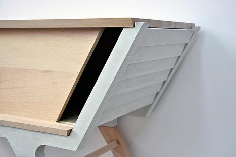 Bahut SVEZDA bois et béton par Yoann Keignart - Blog Esprit Design | Le béton créatif et poétique | Scoop.it