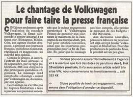 Volkswagen: chantage à la pub? | DocPresseESJ | Scoop.it