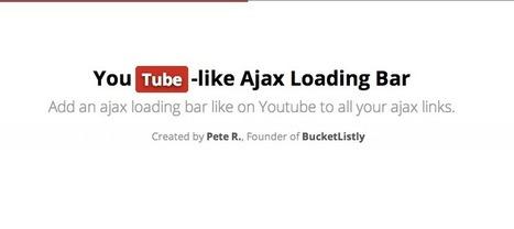 5+ jQuery plugins to create Youtube like loading bar | jQuery By Example | jQuery By Example | Scoop.it