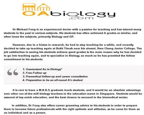 Biology Tuition Tutors | Biology Tuition | Scoop.it