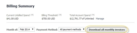 Facebook Ads Manager Users Can Now Download All Monthly Invoices - AllFacebook   Facebook Advertising   Scoop.it