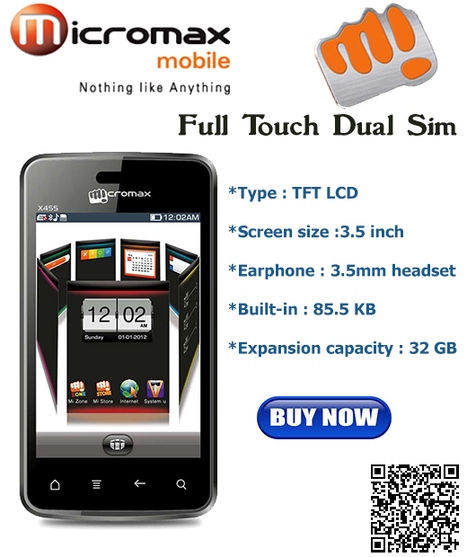 Micromax X455 Full Touch Dual Sim Now Available at Best Price only @ BaseThings.co  http://goo.gl/9sM7z | BaseThings | India's first QR Based online shopping site | Scoop.it