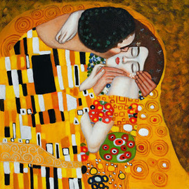Klimt The Kiss Painting Analysis | Liquid Planet | Scoop.it