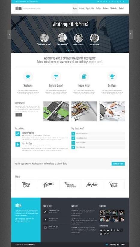 Nine, WordPress Retina Ready Corporate Business Theme   WP Download   themes   Scoop.it