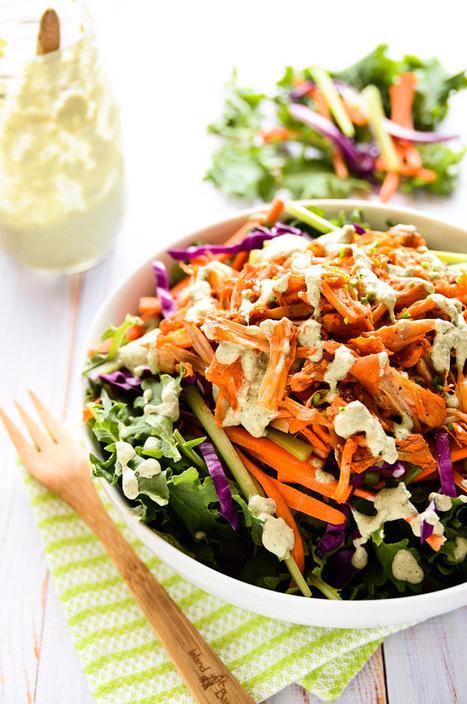 Vegan Buffalo Chicken Salad | My Vegan recipes | Scoop.it